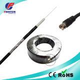 Cable coaxial RG6 con el satélite del conector TV del RF