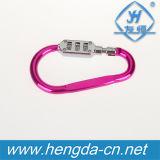 O gancho Yh9238 colorido deu forma ao mini cadeado Resettable do fechamento da senha do fechamento de combinação de 3 dígitos