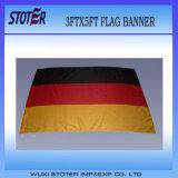 Preiswerter Zoll 3ftx5FT 100% Polyester-Deutschland-Staatsflagge, schwarze rote gelbe Markierungsfahne