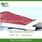 Azulejo de material para techos de acero revestido de la piedra colorida (tipo de Milano)