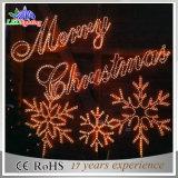 옥외 거는 훈장 LED 휴일 즐거운 성탄 편지 빛
