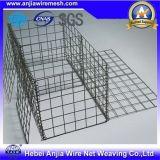 Soldado e galvanizado, caixa revestida PVC de Gabion do engranzamento de fio