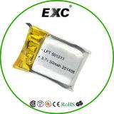 Ultra pequeño de la batería de polímero de litio de 3,7 V 501215 45mAh Lipo batería para Pulsera podómetro