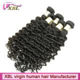 Trame expérimentée de cheveux humains de vente en gros d'usine de cheveux de Vierge