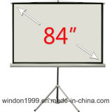 8 ' x8 Scherm van de Projector van het Scherm van de Projectie van de Driepoot het Draagbare voor School