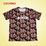 T-shirt fait sur commande d'hommes d'impression avec le tissu de coton ou de polyester