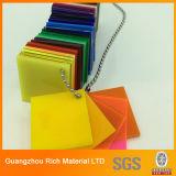 Folha acrílica do plexiglás da folha PMMA da cor plástica dura resistente do risco