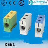 Blocchetto terminali di alluminio connettente del cavo elettrico del conduttore del Cu di Al (KE61.1)