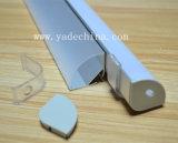 Canaleta de alumínio de canto 16mm da extrusão do perfil do diodo emissor de luz com difusor Opal