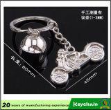 Preiswerter kundenspezifischer Metallmotorrad-Sturzhelm Keychain