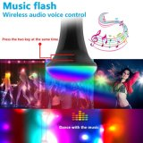 MultifunktionsColor Changeable durch Music Control PAS Lamp USB Rechargeable LED Flashlight