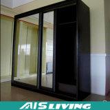 De Kast van de Garderobe van de schuifdeur met het Ontwerp van de Spiegel (ais-W045)