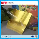 Почищенный щеткой лист пластмассы цвета двойника ABS сопротивления жары серебряного золота ударопрочный
