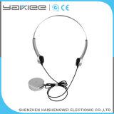Appareil auditif sourd de câble par ABS d'argent de conduction osseuse
