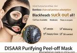 Masque pelable de nettoyage profond d'épuration de désintoxication en bambou de charbon de bois de masque de noir de boue de Disaar