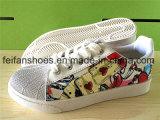 最新の女性の注入のズック靴の偶然靴(FFYJ1223-01)