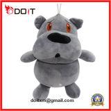 Brinquedos bonitos cinzentos da criança do bebê do hipopótamo