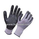 Ultra dünne Mikroschaumgummi-Nitril-Handschuhe mit Punkten auf Palme