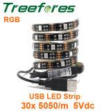Indicatore luminoso di striscia del USB LED di IP65 5V RGB