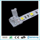 Solderless 3528의 LED 지구 빛을%s 클립-온 연결기 연결관 2pin