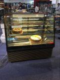2017新式のスーパーマーケットのケーキのショーケースの価格またはケーキスリラーまたはガラスのケーキの飾り戸棚