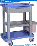 Het Directe Ziekenhuis van de fabriek/ABS van de Apparatuur van de Herenkapper het Materiële Medische Karretje van het Gebruik