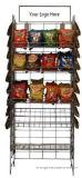 Crémaillère de pommes chips, étagères au détail de la crémaillère 5 de présentoir de casse-croûte de mémoire