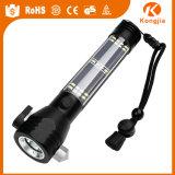 Lâmpada de alumínio nova da tocha da lanterna elétrica do diodo emissor de luz psta do projector forte da intensidade da bateria do AA pela lanterna elétrica solar