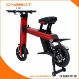 Bicicleta elétrica de dobramento com as baterias de lítio de Panasonic, certificado de FCC/Ce/RoHS