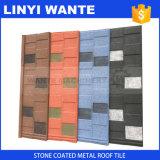 Mattonelle di tetto rivestite del metallo della sabbia di colore della natura di resistenza alle intemperie