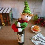 クリスマスのサンタクロースのワイン・ボトルカバー(JG667)