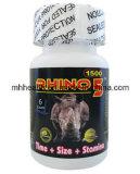 De krachtige Mannelijke Versterker 1500mg van het Geslacht van de Geneeskunde Rhino5 van het Geslacht van de Verhoging Kruiden