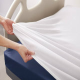 El hotel/Hostipal todo clasifica la hoja ajustada blanca llana 100% del algodón (WSFI-2016009)