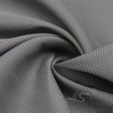 20d 350t 물 & 바람 저항하는 옥외 아래로 운동복 재킷에 의하여 길쌈되는 환영 격자 무늬 & 점 자카드 직물 38.5% 20d 나일론 + 61.5% 폴리에스테 직물 (NJ045)
