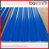 Hoja de acero revestida del material para techos del color acanalado primero
