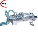 El doble neumático semiautomático dirige la máquina de rellenar líquida del agua mineral