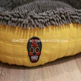 Sofá amarelo da casa da base do gato do cão dos produtos do animal de estimação do algodão do OEM