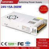 Fonte de alimentação do interruptor do excitador 24V 15A 360W do diodo emissor de luz para para a impressora 3D