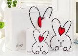 주문 로고 250g Artpaper 쇼핑 트롤리 또는 Foldable 또는 만화 또는 포도주 또는 의복 또는 아이 또는 까만 서류상 선물 부대