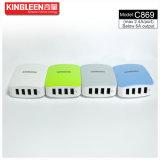 Chargeur intelligent 5V-6A de Kingleen C869 quatre USB produit par l'exportation initiale d'usine en Europe