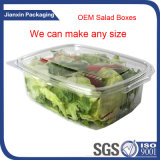 Rectángulo de empaquetado de la ensalada plástica disponible clara