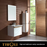 Wall Hung MDF White Lacquer Bathroom Cabinet (V002)