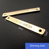 Fabricante de encargo de la escritura de la etiqueta de la ropa/escrituras de la etiqueta de encargo del metal para la insignia de la ropa de la ropa/del metal