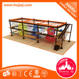 Expansion Series Wooden Indoor Playground Equipment Rope Net