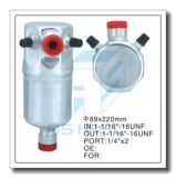 Acumulador de alumínio personalizado para o auto condicionamento de ar 89*220