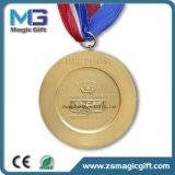 Médaille d'or blanc personnalisée