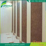 Porta de madeira impermeável da divisória da cor da grão do banheiro