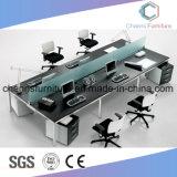 Sitzmetallbüro-Melamin des Schwarz-4, das Partititon Schreibtisch-Möbel-Arbeitsplatz Arbeits ist