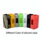 Caisse 2016 colorée de vente chaude des silicones 75W de Vivismoke Hotsale Snowwolf mini