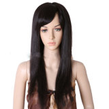 La peluca india del frente del cordón del pelo de la manera/ata por completo pelucas del pelo humano de la peluca el 100%